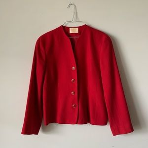 Vintage Pendleton red Christmas blazer